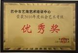 社会艺术考级优秀奖